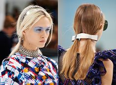 PIGTAILS: At Chanel, hair stylist Sam McKnight gave the models a youthful look with pigtails. Paired with metallic barrettes and headbands, this is an easy trend to follow for next spring. Photo: Chanel
