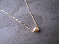 Gold Plated Necklaces – Love - Heart Necklace 14k goldfilled – a unique product by Sweet-Pearls-Design on DaWanda