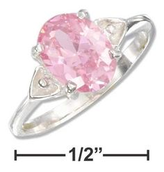 Sterling Silver Double Heart Oval Pink Ice Ring    Was:  US $20.15 What does this price mean?  You save:  $5.04 (25%)  Price:  US $15.11