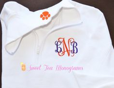 For all of our Clemson girls! You can customize these pullovers with your school colors and add a fun critter to the collar.