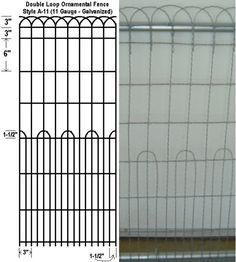 Ornamental Loop Fence Decorative Woven Wire Fencing