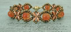 Bracelet of the Day: Sunflower Bracelet - Tangerine                                                                                                                                                     More