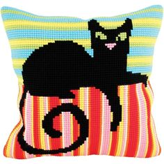 """Mr. Handsome Stamped Cross Stitch Pillow Cushion Kit 16"""" x 16"""""""