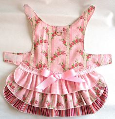 Pretty Pink DOG Dress Harness 3 layer cake Ruffled Puppy dress or small pet clothes