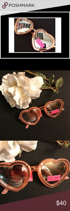 47f959cf950 Shop Women s Betsey Johnson Pink size OS Glasses at a discounted price at  Poshmark. Description  NWT Betsey Johnson Pink  Rose Heart Shape mirrored  glasses ...