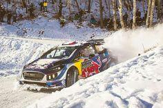 Ogier gewinnt im Ford Fiesta die Rallye Monte Carlo Monte Carlo, Nascar, Rallye Wrc, Ford Motorsport, Off Road Racing, Rally Car, Red Bull, Cars Motorcycles, Cool Cars