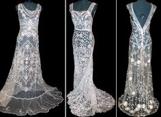Antique lace gowns