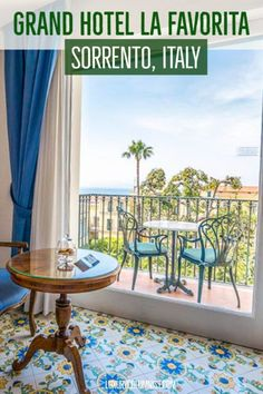 Sorrento is one of the most charming places on the Amalfi Coast, Italy. Grand Hotel La Favorita, Sorrento is one of the best 5 star Amalfi Coast hotels. Sorrento Hotel, Sorrento Italy, Naples Italy, Sicily Italy, Capri Italy, Italy Vacation, Italy Travel, Travel Europe, Travel Destinations