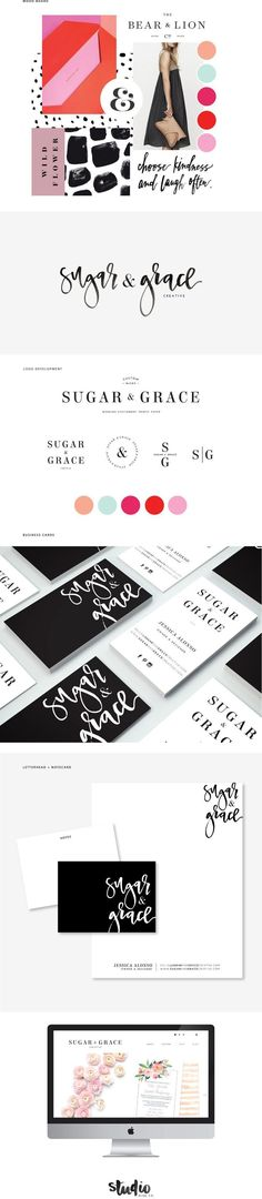 Complete Brading Design by Studio 9 Co // beautiful brand design and inspiration for blogger custom blog design board