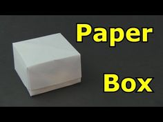 How To Make Your Own Paper Box - EASY! - YouTube