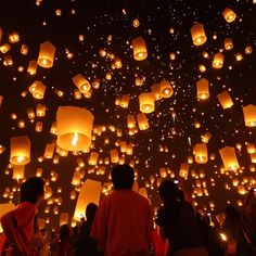 Pin for Later: 83 Unreal Places You Thought Only Existed in Your Imagination Floating Lantern Festival, Thailand