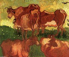 Cows - (Vincent Van Gogh)