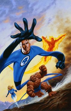 Fantastic Four by Joe Jusko  | I love the perspective in this.