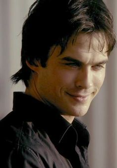 Damon Salvatore - The Vampire Diaries ♥  His typical smile^^