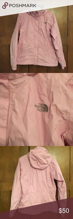 🌸 North Face Pink rain jacket 🌸 Excellent used condition. Lightweight with plenty of pockets. Like new condition. North Face Jackets & Coats Utility Jackets