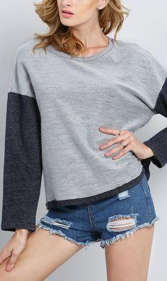 Super cute grey long sleeve sweatshirt.