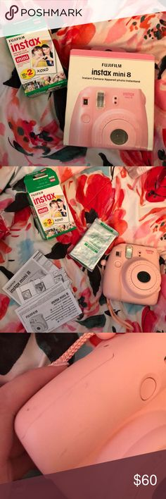 Instax Fujifilm 8 Camera w/ 10 instant film minis. Used once in Disney, never used again. Selling one cartridge of 10 Polaroid film photos. Comes with directions and everything else! Fujifilm Other