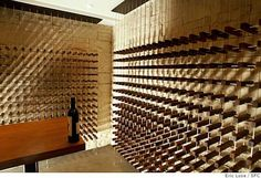 Sand Studios designed the wine cellar in the basement of the Modern By Design…