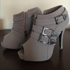 Dottie Couture Boutique booties! Dottie Couture Boutique grey peep toe booties! Shoes Ankle Boots & Booties