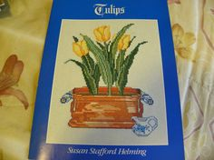 Crosstitch Pattern Leaflet  Tulips  by MillersHollowGifts on Etsy