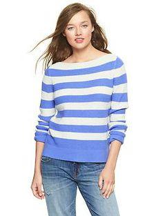 Striped boatneck pullover | Gap