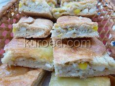 Песочный пирог с рисом и яйцами в корзиночке