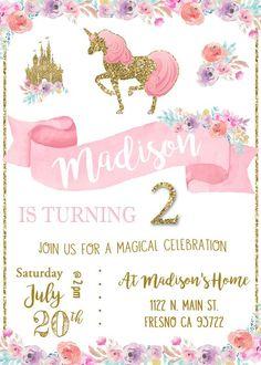 decoracion fiensta para niña unicornio - unicornio party decor http://cursodeorganizaciondelhogar.com/ideas-para-organizar-una-fiesta-de-unicornio