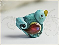 Artisan made glass bird lampwork bead for collecting or your own designs