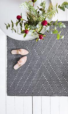 Helppo virkattu matto – katso ohje ja tee itse! | Meillä kotona