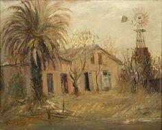 Raúl Soldi | La chacra | 1950 | Óleo sobre tela | 40 x 50 cm