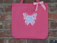 Monogrammed Preschool Tote Bag by DoWahDiddies on Etsy