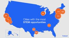 These are the cities with the most Science, Technology, Engineering, and Math…