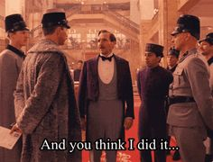 I laughed so unbelievably hard at this scene! I just love Ralph. #favorite #thegrandbudapesthotel