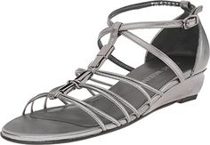 Stuart Weitzman Women's Lowlight Pewter Nappa Wedge 10 W -- Check this awesome product by going to the link at the image.