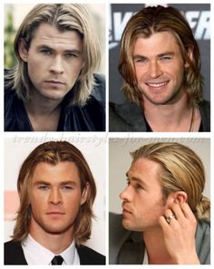 Chris Hemsworth long hairstyles