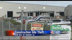 A robbery occurred at a construction site for the new Border Patrol building.