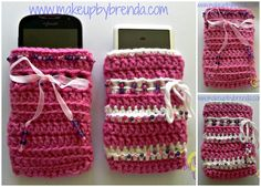 CROCHETED SMARTPHONE / iPOD BEADED CASES (Customizable) .. $10.00 USD (free shipping)