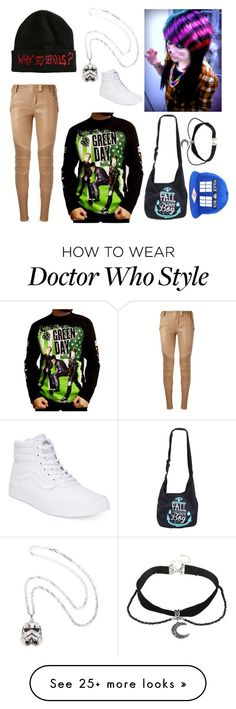 """""""Untitled #2319"""" by frerardforever on Polyvore featuring Balmain and Vans"""