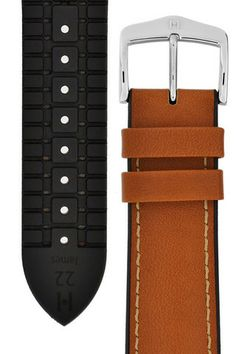 Hirsch JAMES Calf Leather Performance Watch Strap in GOLD BROWN  £49.00