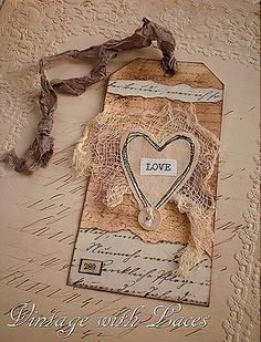 paper & lace bookmark/hang tag