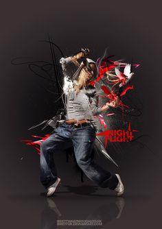 Night Flight by BrettUK on DeviantArt Dance Art, Dance Music, Hip Hop Dance Moves, Best Hip Hop, Cv Design, Dynamic Poses, Street Dance, Photoshop Effects, Modern Dance