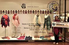 Para continuar con la difusión del Día Mundial del Comercio Justo, realizamos vidrieras en nuestros locales de Punta Carretas Shopping y de Montevideo Shopping. Los invitamos a acercarse para disf…