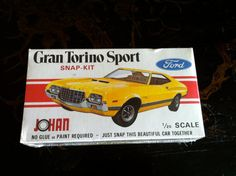 JOHAN CS502 Gran Torino Sport SnapKit Plastic Model by LaDolfina, $85.00
