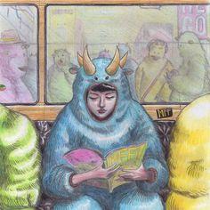 #colorpencils #girlundercover #subway #fantasyart #ilustration # Undercover, Fantasy Art, My Arts, Comics, Instagram, Illustration, Painting, Color, Character Design