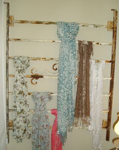 yard fence turned into scarf rack - love these ideas