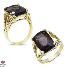Ebay NissoniJewelry presents - Smokey Quartz Fashion Ring 10k Yellow Gold    Model Number:CG-4576Y0SMQ    http://www.ebay.com/itm/Smokey-Quartz-Fashion-Ring-10k-Yellow-Gold/221630405778