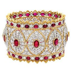 Buccellati Diamond Ruby Bangle