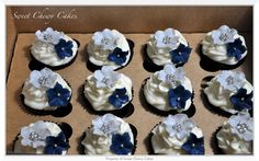Silver and Navy Blue cuppies