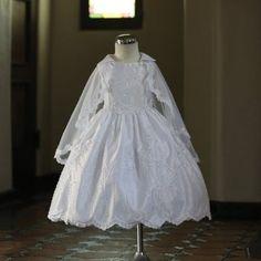 Angels Garment White Dress Size 3T Girl Satin Embroider Baptism Angels. $63.99