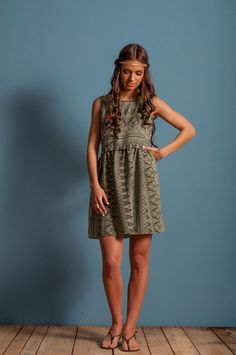 8277d051a0a Aztec loose dress baby doll short dress loose by LeMoutonBleuShop